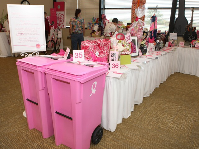 Items up for auction at Vera Bradley's Tickled Pink