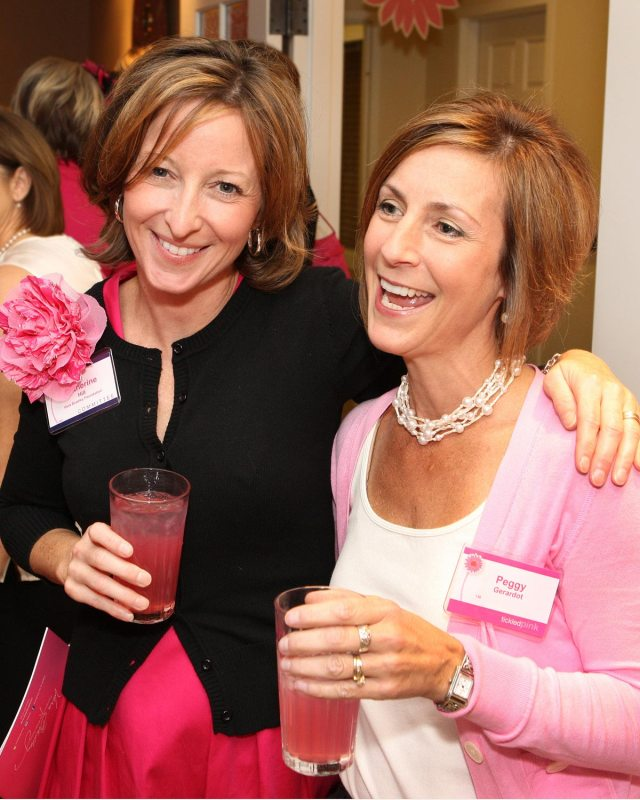 Executive Director of the Vera Bradley Foundation for Breast Cancer, Catherine Hill (left).