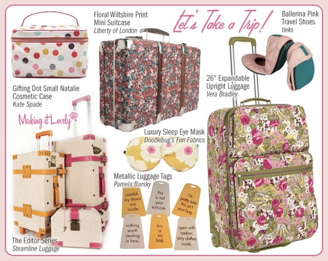 Vera Bradley Rolling Luggage featured on Making it Lovely