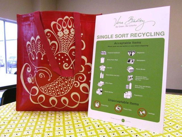 America Recycles Day at Vera Bradley