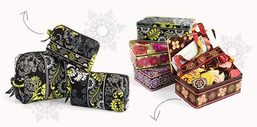 Vera Bradley Cosmetics and Apron Gift Set