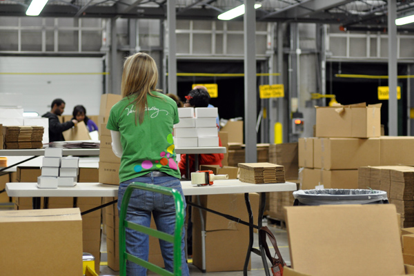 at the Vera Bradley Distribution Center