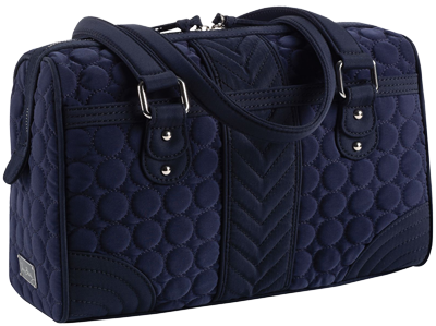 Top Handle Duffel in Navy Microfiber