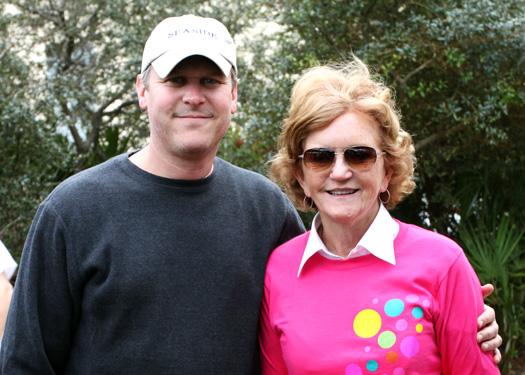 Vera Bradley CEO Mike Ray with Co-founder Barbara Bradley Baekgaard