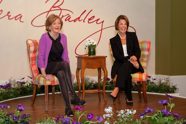 Vera Bradley Co-founders Barbara Bradley Baekgaard and Patricia R. Miller