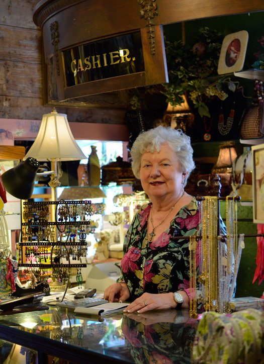 Nan Walvoord, owner of The Vintage House in Carrollton, Texas