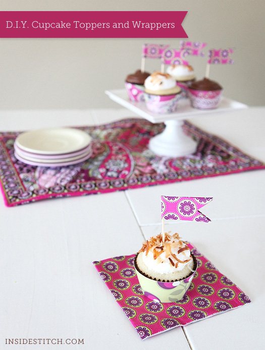 D.I.Y. Cupcake Toppers and Wrappers