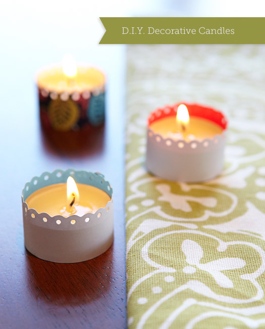D.I.Y. Decorative Candles