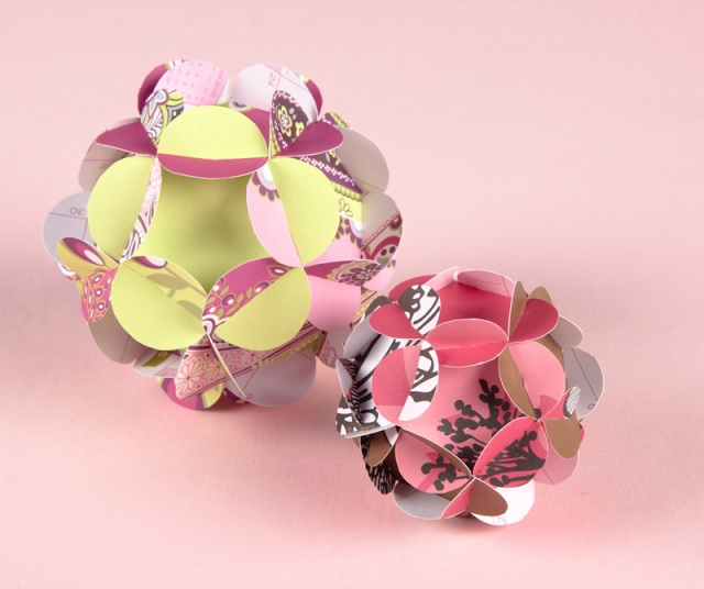 D.I.Y. Paper Ball Ornament