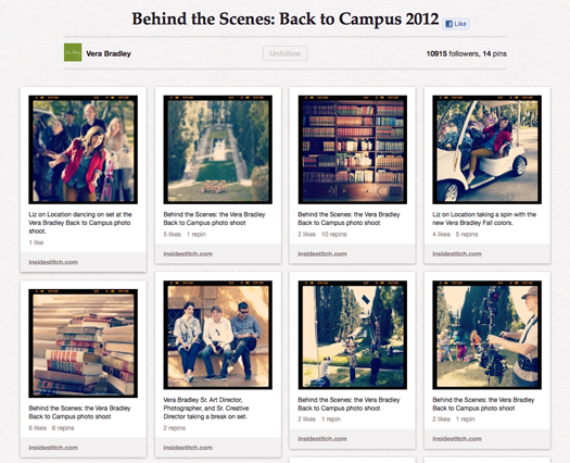 Behind the Scenes: Back to Campus 2012 on pinterest
