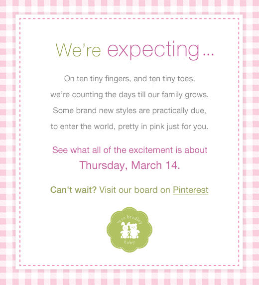 We're expecting ...