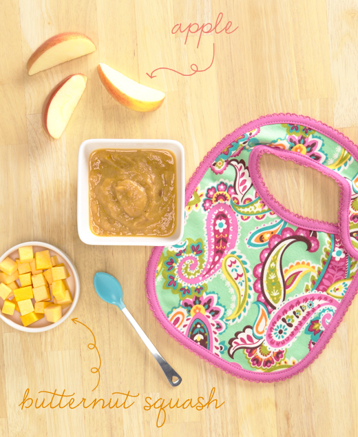 Baby food recipe: butternut squash and apple