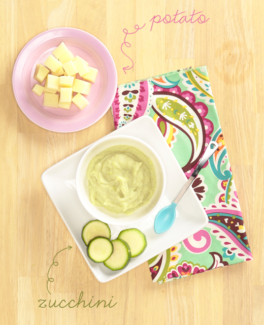 Baby food recipe: potato and zucchini